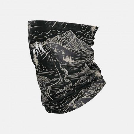 Mountain Aloha Black neckwarmer