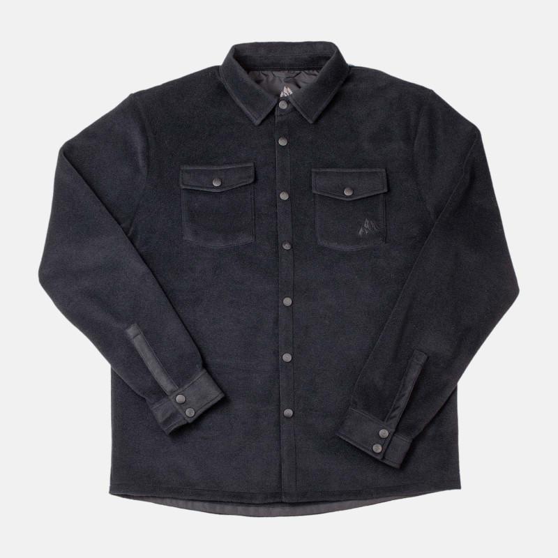 December fleece shirt - black, front