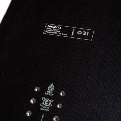 Jones Men's Project X Snowboard, close up detail