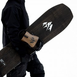 Jones Men's Ultra Flagship Snowboard, close up detail with Jones bindings