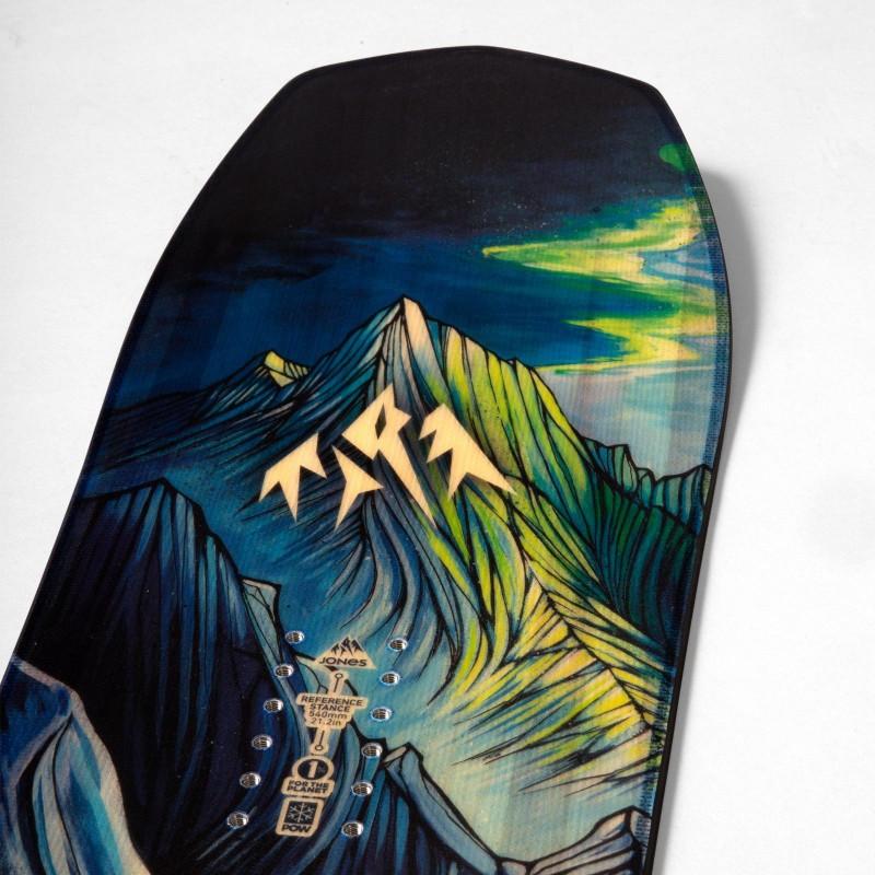 Jones Youth Flagship Snowboard, close up detail